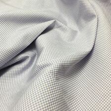 Rayon Shirting Fabric - Lavender Purple & White Gingham Check 1/3 yd remnant