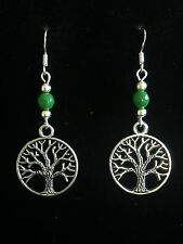 Earrings Tree of Life Silver Hippie Ethnic Boho  Festival Tribal Bohemian