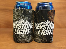 Keystone Light Real Tree Camo Beer Koozie Can Cooler - 2 Pack New & Free Shipin.