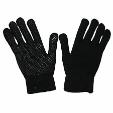 12 MENS WORK WEAR MAGIC GRPPER GLOVES DRIVING BLACK