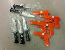 Lot of 5 Rubber Gun and Knife Set Martial Arts Training Defense Police Practice