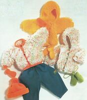 "Baby Girls Loopy Knitting Pattern Jacket with Hood or Cap Mittens 16-22"" DK 285"