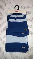 NWT MENS LEVI'S 100% AUTHENTIC WINTER SCARF HAT SET MSRP $35