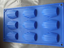 Silicone Mould Madeleine 9 Shell Pan/Tray/Sponge Cake Tin-Biscuits