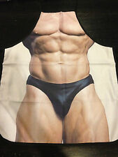 Sexy Muscles Body Builder Cook Kitchen BBQ Chef Apron Fun Party Novelty Costume