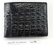 100% Genuine Crocodile Alligator Skin Leather Wallet New Bifold VIETNAM # VCS91