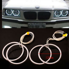 4PCS 7000K 12V CCFL White Angel Eye Halo Anneaux Light  For BMW E30 E32 E34  New