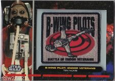 STAR WARS GALACTIC FILES PR-29 EMBROIDERED PATCH B-WING PILOT ENDOR VETERANS