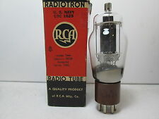 NOS RCA US NAVY CRC 1625 Vacuum Tube Made 1943 Tested #K.@420