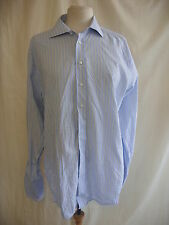 "Mens Shirt - Austin Reed Signature, 16.5""R, two folds 120's, pale blue mix 7506"