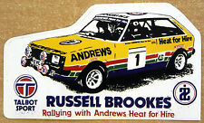 Russell Brookes Talbot Sunbeam Castrol Rally / Motorsport Sticker Decal