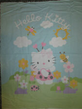 HELLO KITTY BEES FLOWERS COTTON FABRIC PANEL YD OOP