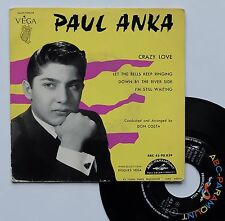 "Vinyle 45T Paul Anka  ""Crazy love"""