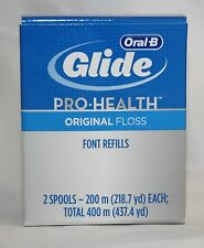 Glide Oral B Pro Health spool dual pack Dental Floss 437 yd 400 m NIP REFILL