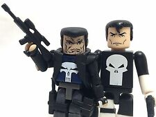 "Minimates Marvel Universe Lot 2 Assault Punisher & Frank Castle 2.25"" Figures"