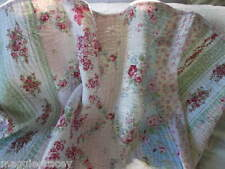 SHABBY BEACH COTTAGE  PINK ROSE SIMPLY CHIC RASPBERRY TOILE QUEEN QUILT ONLY!!