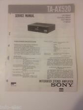 Schema SONY - Service Manual Integrated Stereo Amplifier TA-AX520 TAAX520