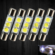 5X White LED 29mm-31mm 5050 3SMD Fuse Vanity Mirror Light Bulb For 6641 TS-14V1C