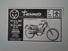 advertising Pubblicità 1974 MOTO TECNOMOTO 125 REGOLARITA'