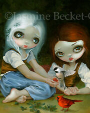 Jasmine Becket-Griffith fairytale art print SIGNED Snow White and Rose Red