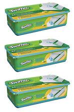 3x SWIFFER Wet 24 Umidità suolo Pulizia Salviette STROFINACCI Nachfüllpack Citrus
