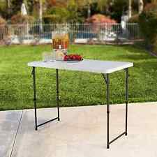 Portable Utility Table 4 Foot Adjustable Height Folding DJ Outdoor BBQ Party Sew