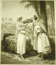 Rebecca à la fontaine Horace Vernet sc Jazet c.1860 juifs & Estampe orientaliste