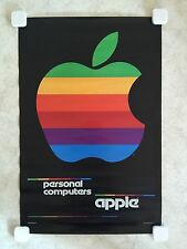 "AUTHENTIC ICONIC APPLE POSTER -- ""1980 Rainbow Color Poster"" -- ORIGINAL"