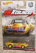 HOT WHEELS Car HW Redliners '69 Corvette Racer Yellow Real Riders MOC Toy