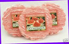 3 Yankee Candle JUICY WATERMELON Pink Wax Tarts Mini Candle apprx. 8 hrs ea