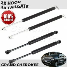 2 HOOD & 2 TAILGATE Lift Supports Struts For 1999-2004 Jeep Grand Cherokee