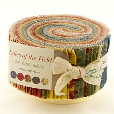 LILIES Of The FIELD by JAN PATEK QUILTS for MODA ~ 40 STRIP JELLY ROLL