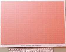 N gauge (1:160 scale) red brick paper - A4 sheet