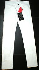 New NWT 30 x 34 Mens Designer Spurr Pipe Jeans USA White Logo Belt Patch Slim