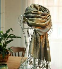 Womens Warm Soft Jacquard Pashmina Shawl Hood Cowl Winter Long Scarf Wraps