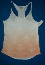 Roxy Tank Top Race Back XL Jr.White Orange Aztec Made In USA $12.- NWT Free/Ship