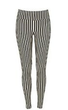 Black And White Candy Striped RIVER ISLAND Leggings Celeb TOWIE Size 8