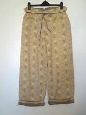 GUDRUN SJODEN, S/M, Double Layered Padded Woven Cotton Trousers LAGENLOOK QUIRKY