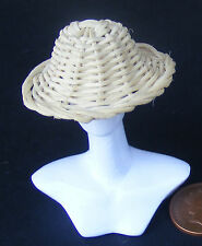 1:12 Scale Handmade Straw Hat Dolls House Miniature Garden Clothing Accessory