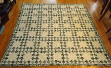 "Laura Ashley Full Queen Patchwork Berry Bramble Quilt Bedspread Green 80x81"" EXC"