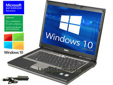 DELL LAPTOP LATiTUDE DUAL CORE 1.6GHz WINDOWS 10 CDRW DVD WiFi NOTEBOOK COM