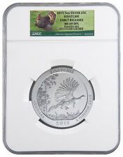 2015 5 Oz 25c Silver America Beautiful (ATB) Kisatchie NGC MS69 DPL ER SKU35664