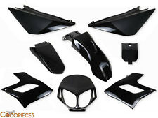Kit 8 carénages Derbi Senda DRD Racing Fairing plastics (2004-2010) NOIR BLACK