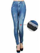 Denim Winter Leggings Trousers Jeans  Combats Fleece THERMAL WARM STRETCHY THICK