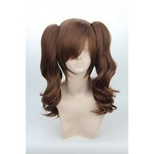 Kujikawa Rise.Persona Brown Culy Removable Ponytails Cosplay Anime Wig Hair