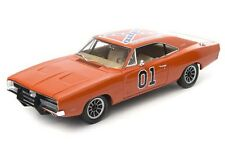 AUTO WORLD amm964 1969 DODGE CHARGER MODELLINO AUTO Dukes of Hazzard generale Lee 1:18