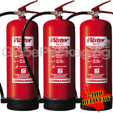 3 x NEW 9 LITRE WATER FIRE EXTINGUISHERS 9L WAREHOUSE OFFICE WORKSHOP *24HRS*