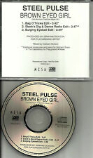 STEEL PULSE Brown Eyed Girl 3 RARE EDITS /MIXES  PROMO CD  Single VAN MORRISON