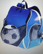 Augusta Sportwear Tri-color Ball Backpack ROYAL/BLACK/WHITE OS 50% Off