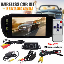 "WIRELESS CAR BUS TRUCK REAR VIEW KIT 7"" LCD MONITOR + IR REVERSING CAMERA"